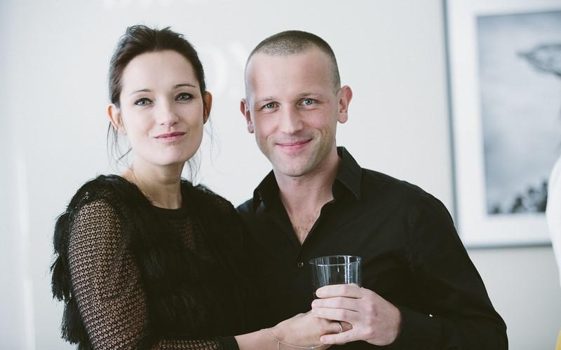 Der international erfolgreiche Schwarzweiss-Fotograf Szymon Brodziak mit seiner Frau Anna im Atelier Jungwirth (© www.BIGSHOT.at / Marija-M. Kanižaj)