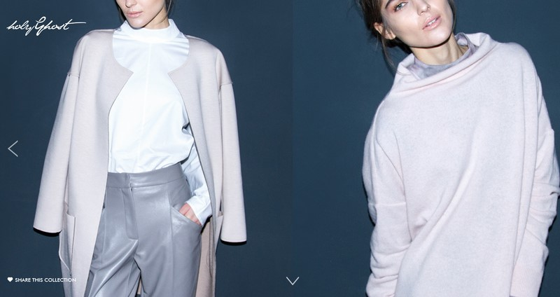 Die Autumn/Winter Kollektion 2015/2016 von Holy Ghost (Screenshot Website HolyGhost)