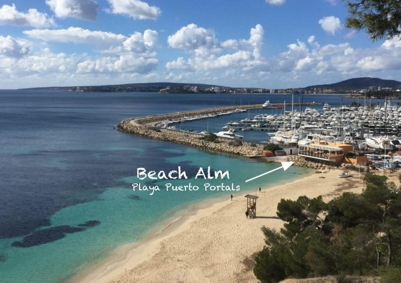 Beach Alm an der Playa Puerto Portals (Foto Beach Alm)