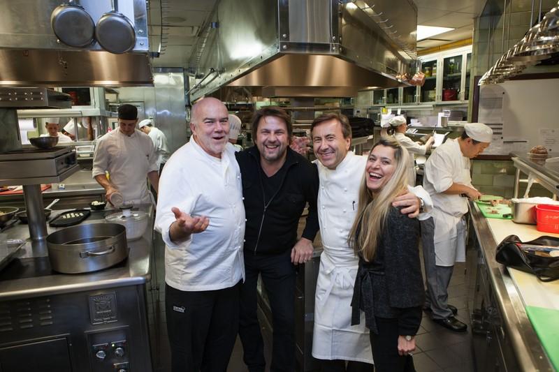 Thomas Schauer mit Daniel Boulud, einem der erfolgreichsten Köche New Yorks, und seiner Gattin Sahinaz (Photographs by Thomas Schauer)
