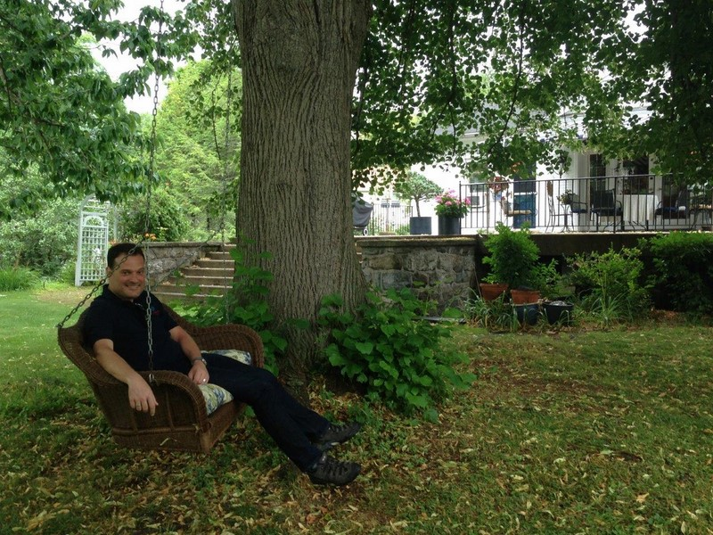 Michael Friedl entspannt sich im Hudson River Valley (Foto Michael Friedl)