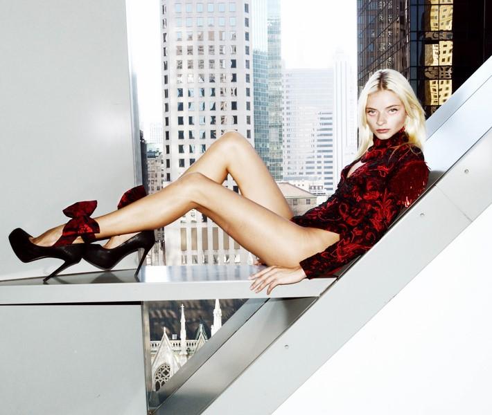 """Shooting von """"My own Walls"""", der neuen Kollektion von Designerin Eva Poleschinski in New York (Foto Eva Maria Guggenberger, Model Lena Lomako)"""