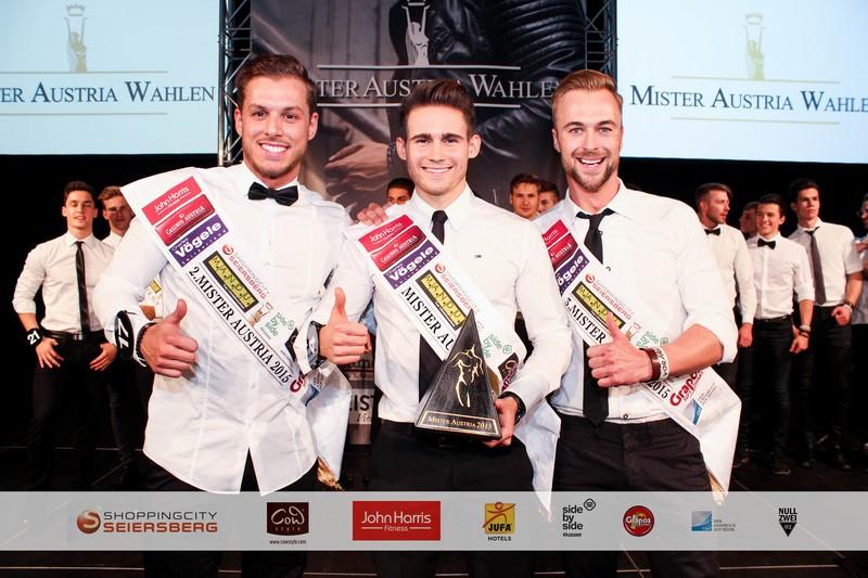 Vize Mister Austria wurde der 25jährige Quality Engineer aus Ried im Innkreis Jakob Holzinger, dicht gefolgt von Sandro Juliano Stadelmann, 26 Jahre alt aus Vorarlberg (Foto MAC/Pall)