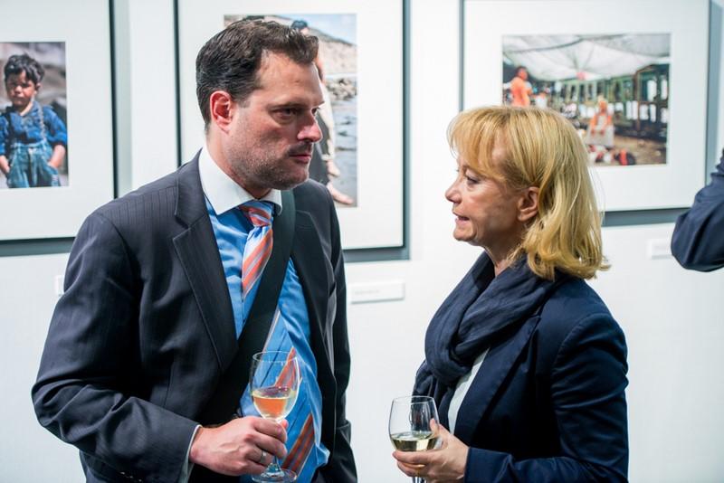 Michael Friedl im Gespräch mit Christine Moser, Direktorin des Austrian Cultural Forum in New York (Foto David Plakke)