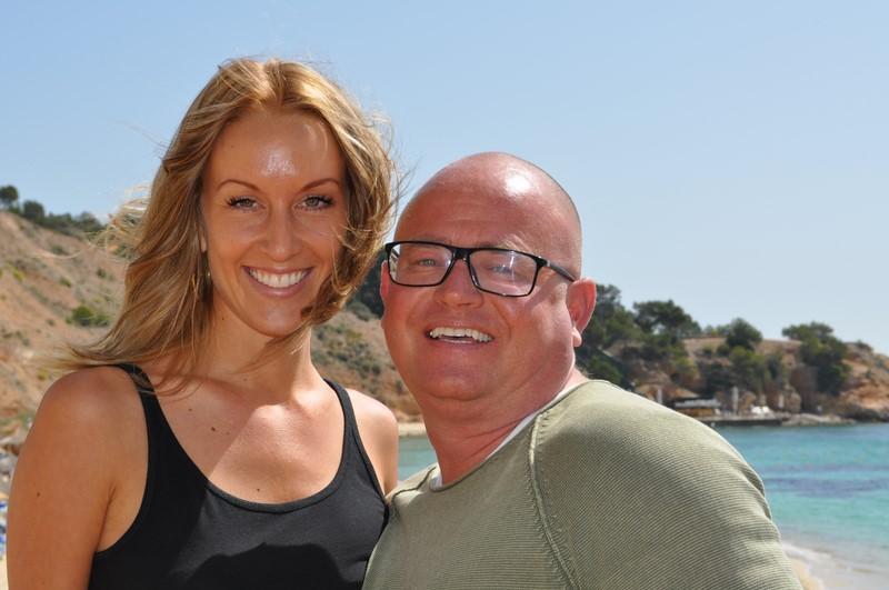 Nadine Niklas und Stephan Ohnek genießen das Leben auf Mallorca (Foto Reinhard Sudy)