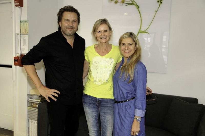 Thomas Schauer, Hedi Grager und seine Frau Sahinaz (Foto Nadine Marie Wohlmuth)