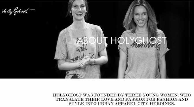 "HolyGhost – ""The feminine urban spirit"""