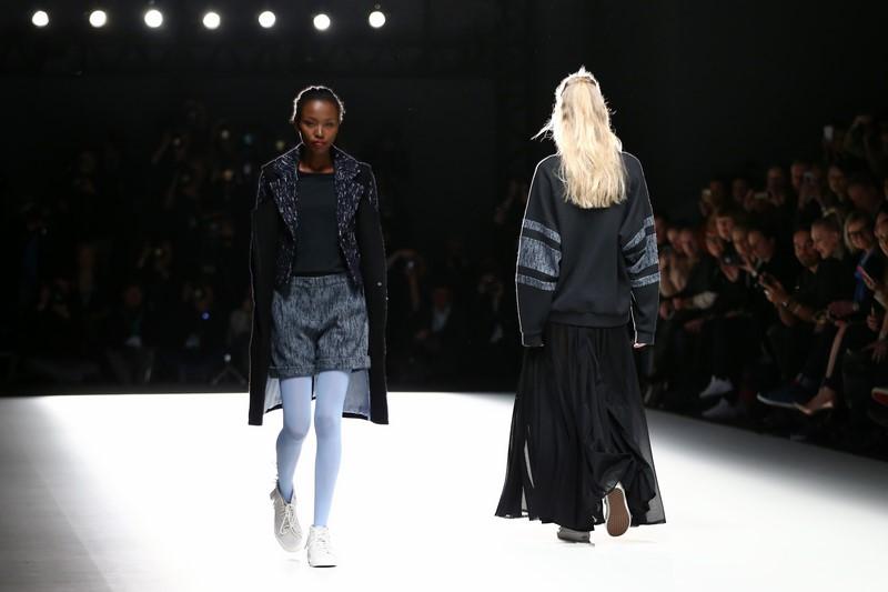 Anne Gorke zeigte ihre Herbst-/ Winter Kollektion 2016 auf der Mercedes-Benz Fashion Week Berlin (Photo by Andreas Rentz/Getty Images)