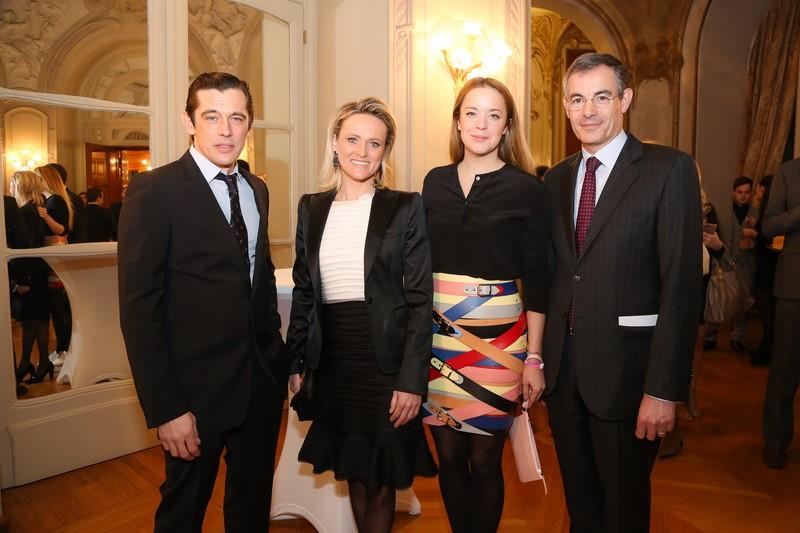 Model Werner Schreyer, Ex-Alpin-Star Alexandra Meissnitzer, Designerin Marina Hoermanseder und der Französische Botschafter Pascal Teixeira da Silva (Foto Moni Fellner)