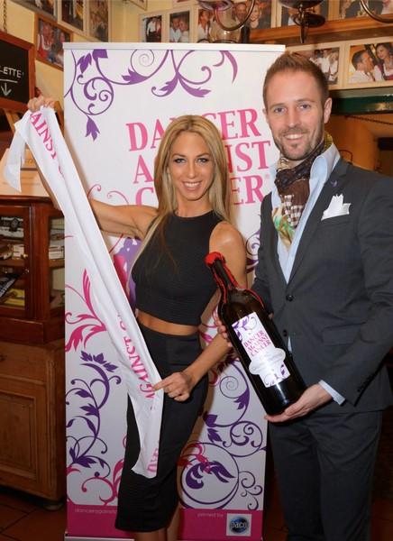 """Yvonne Rueff und Matthias Urrisk-Obertynski präsentieren den """"Dancer against Cancer""""-Wein 2016 (Foto powersisters.at)"""