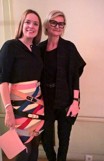 Designerin Marina Hoermanseder war Patin der French Fashion Week in Wien. Hier mit Journalistin Hedi Grager(Foto Reinhard Sudy)