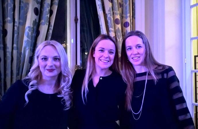 Mag. Sonja Ortner, communícation Studio, Designerin Marina Hoermanseder und Arianna Olivero,  Business France (Foto Reinhard Sudy)