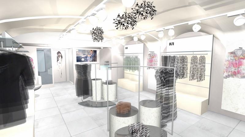 Die feminine Einrichtung des AIRFIELD Stores in Graz soll einen Ort der Inspiration schaffen und Emotionen wecken (Foto AIRFIELD)