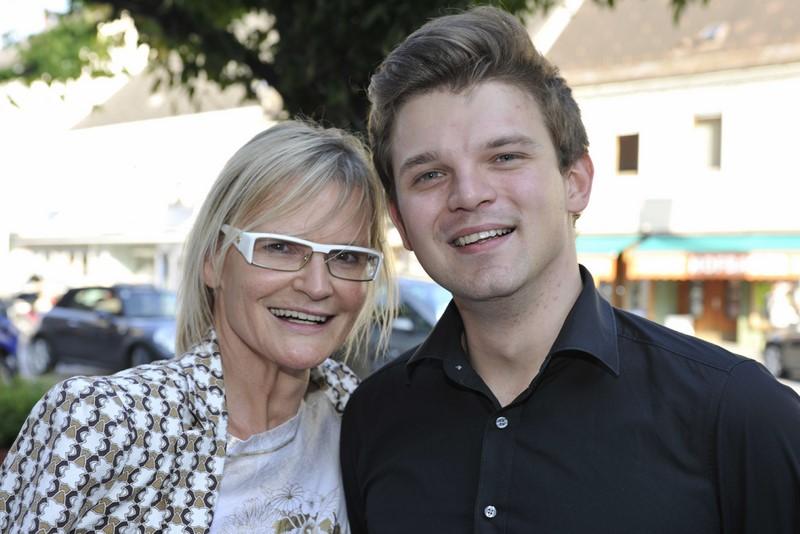 Hedi Grager mit Max Waltl, dem Sänger mit der herrlich rauchigen Stimme (Foto Josef Krasser)