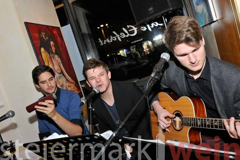 Max Waltl und seine Band, die Chalk, Cheese & Peppers (Foto Steiermarkwein)
