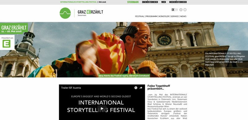 Screenshot graz-storytellingfestival.at