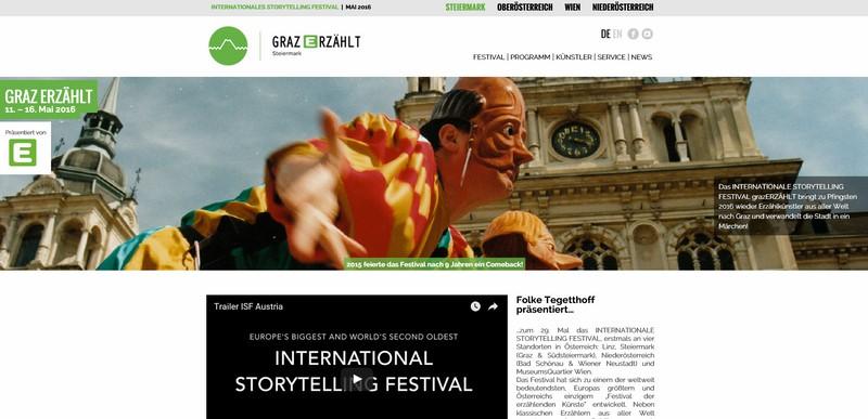 Screenshot graz-storytellingfestival.at