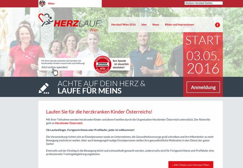Screenshot Verein Herzkinder