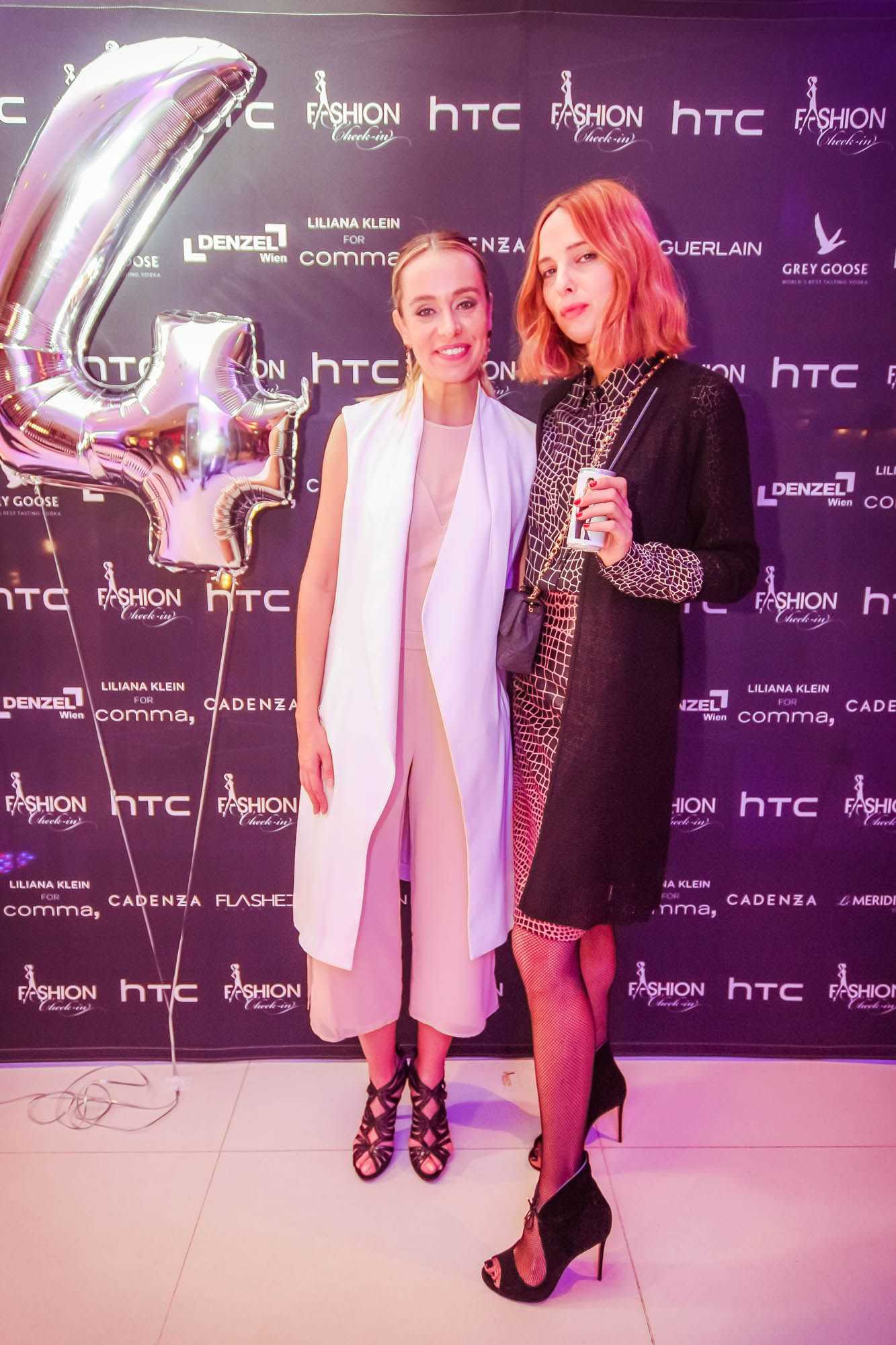 Liliana Klein mit Model und Style-Ikone Candela Novembre (Foto FLASHED EVENTS)