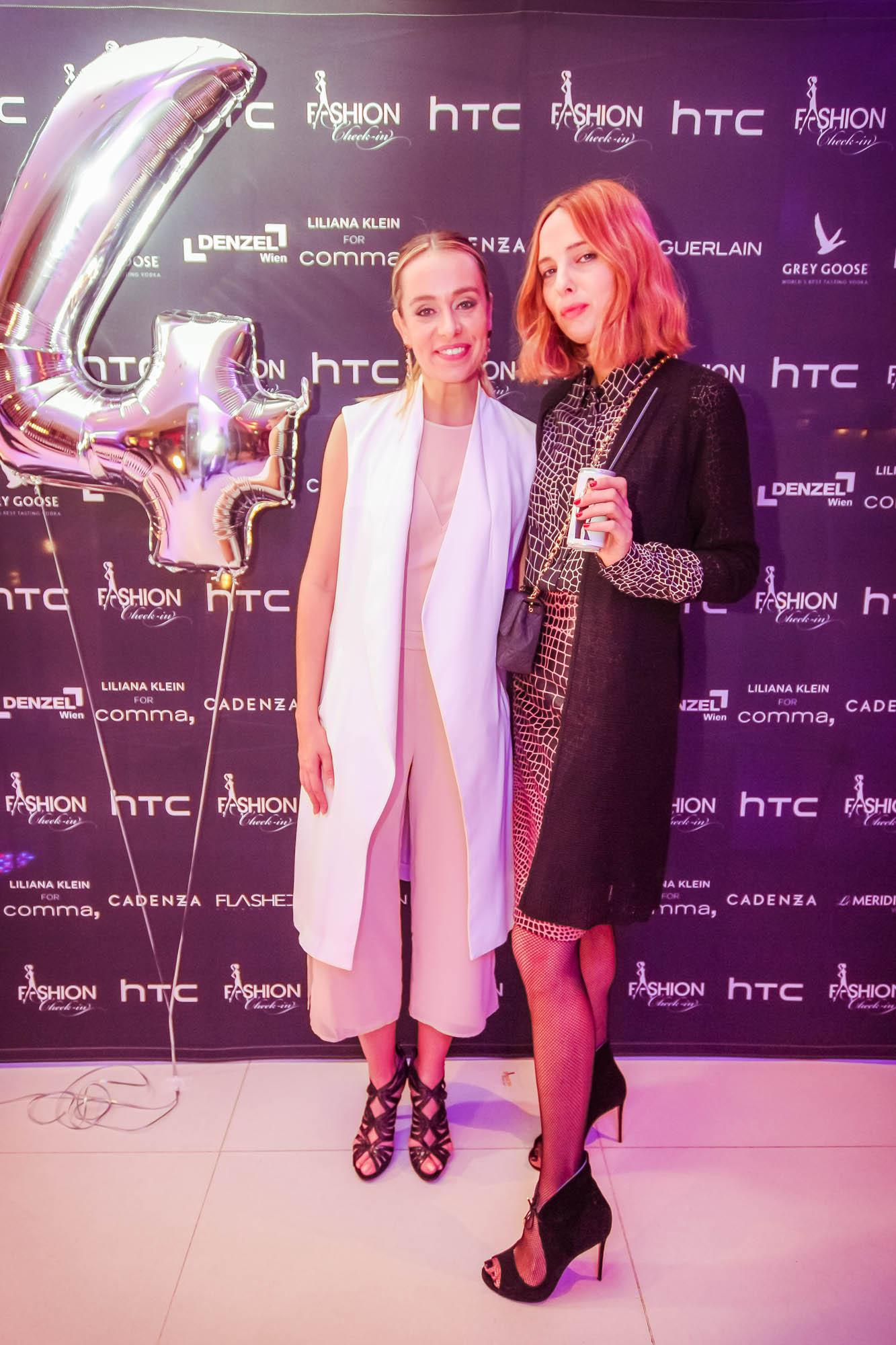 Liliana Klein mit Model und Style-Ikone Candela Novembre (Foto FLASHED EVENTS)