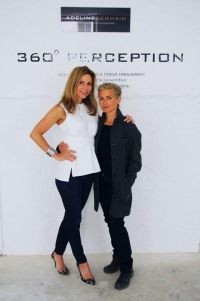 Designerin Adeline Germain mit Künstlerin Diana Orgovanyi in der Galerie Lisabird (Foto SPREAD)