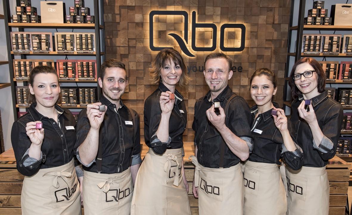 Das Team der Qbo Filiale in der Weyrgasse 8/Landstraßer Hauptstraße (Foto Qbo)