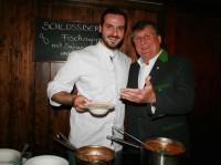 SCHLOSSBERG-Küchenchef Michael Gauster und Günther Huber (Foto Christina Dow)