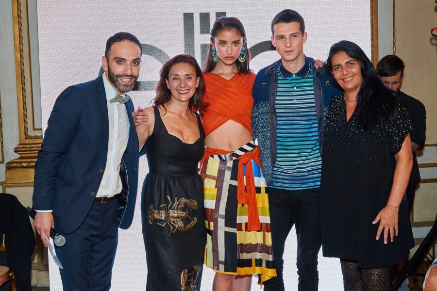 Moderator Dariush Onghaie, Roberta Manganelli, Aila Koch, Florentin Kurz und Victoria Da Silva (Foto Starpix / Alexander Tuma)