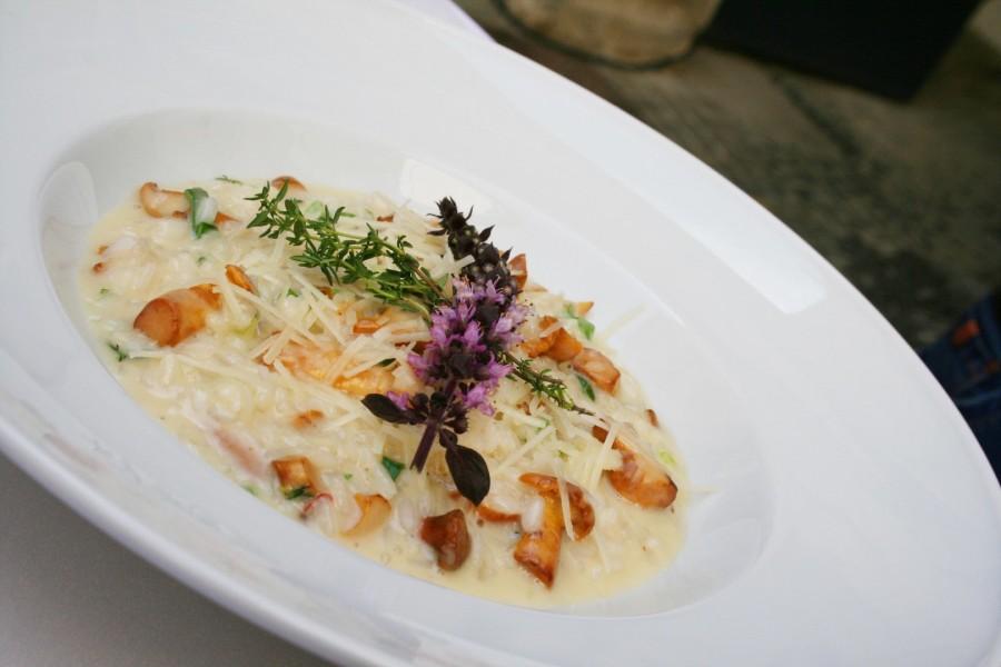 Köstlich auch das herrliche Eierschwammerlrisotto (Foto Christina Dow)