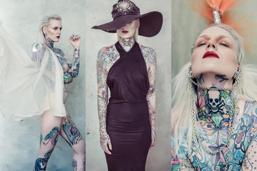 Tattoomodel Lexy Hell als begehrtes Fotomodel (Fotos Sammy Hart)
