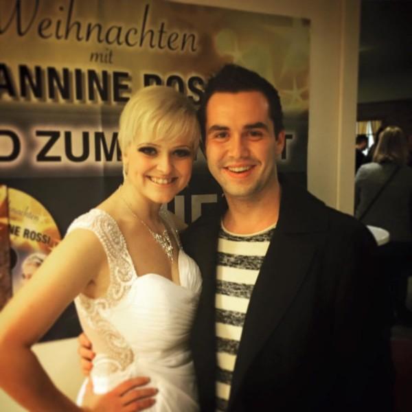 Marcel Resch hier mit der steirischen Sängerin Jeannine Rossi, die ihn bei seiner Charity-Gala zugunsten der Kinderkrebsstation am LKH Graz im Grazer Operncafé  auch unterstützt. Karten gibt es im Opern Cafe und unter marcel.resch@gmx.at (Foto beigestellt)