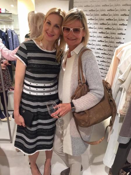 Die sehr sympathische US-Schauspielerin Kelly Rutherford, hier mit Hedi Grager, kam extra zur Eröffnung nach Graz und musste am nächsten Tag schon wieder nach Amerika zurückfliegen.