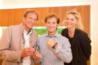 Hans und Annemarie Schullin mit dem ehemaligen Formel 1-Piloten Jarno Trulli (Foto Jorj Konstantinov, geopho.com)