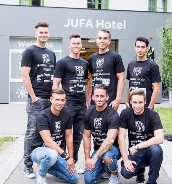 Team Kärnten. Stehend: V. Kljajic, S. Wallner, J. Eggenberger und M. Ganzer. Sitzend: R. Widyna, N. Ressmann und P. Millechner (Foto Mister Austria)