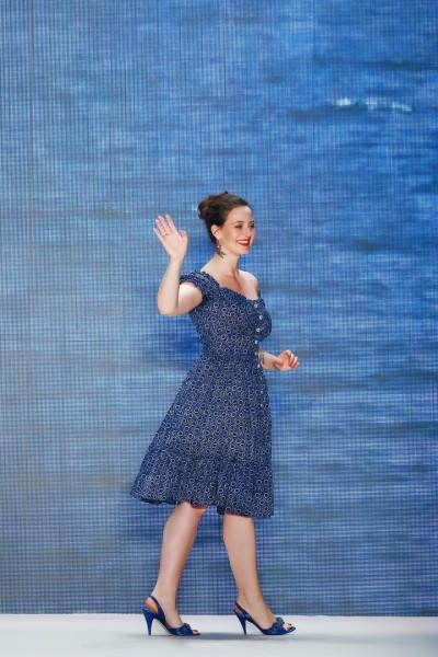 Die österreichische Designerin Lena Hoschek wurde wie gewohnt mit großem Applaus nach ihrer Show gefeiert (Photo by Peter Michael Dills/Getty Images)