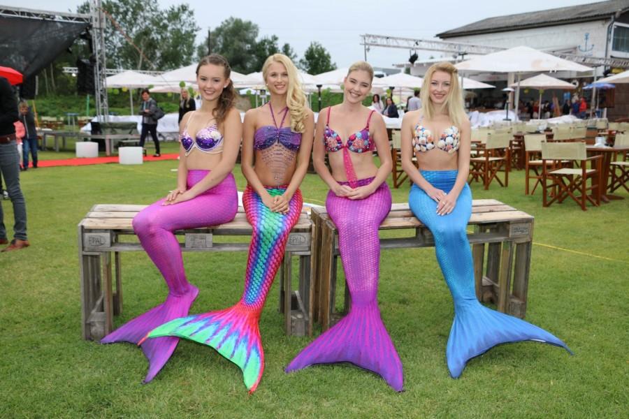 Die Meerjungfrauen Michelle, Elli, Vivan und Lisa-Marie: www.missmermaid.de (Foto Alex Feyh)