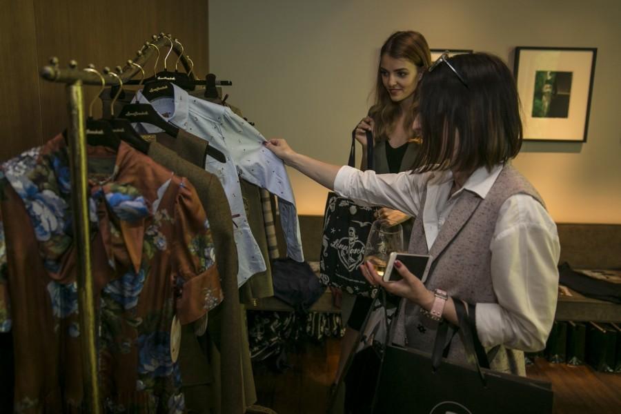 Auch die erfolgreiche und international bekannte österreichische Kleidermacherin Lena Hoschek war im 'Das Stue' vertreten (Foto Pascal Rohé)
