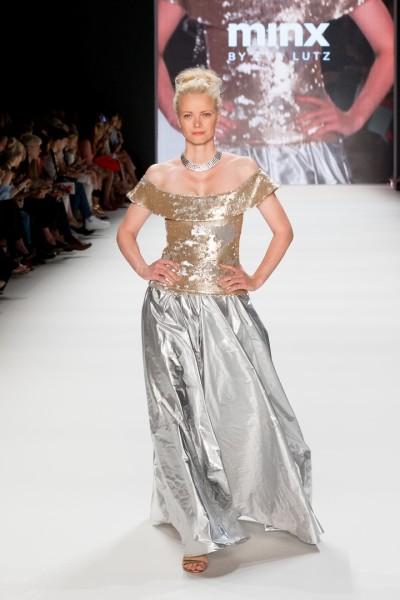 Auch Topmodel Franziska Knuppe lief wieder für MINX by Eva Lutz (Foto Lightshades.de)
