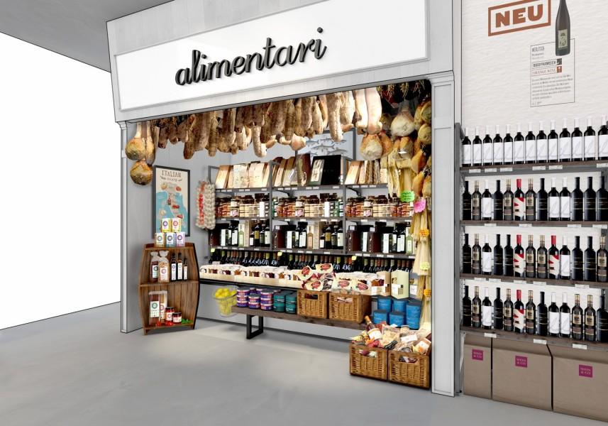 Wein&Co Flagshipstore am Wiener Stephansplatz: Alimentari ((c) BEHF)