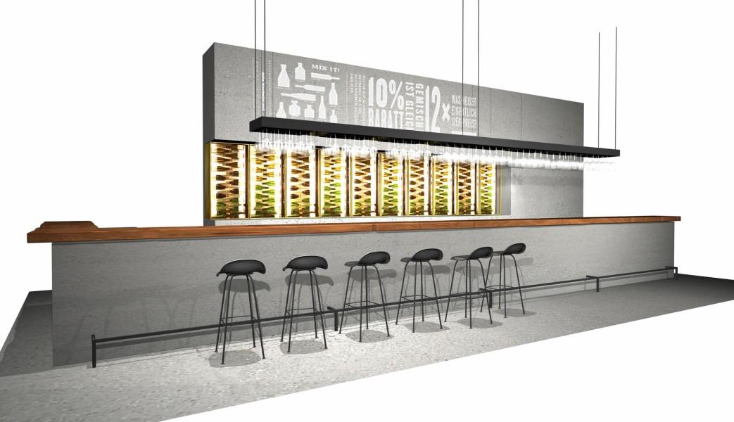 Wein&Co Flagshipstore am Wiener Stephansplatz: die Bar ((c) BEHF)