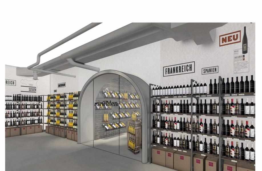 Der neue Shop im Wein&Co Flagshipstore am Wiener Stephansplatz ((c) BEHF)