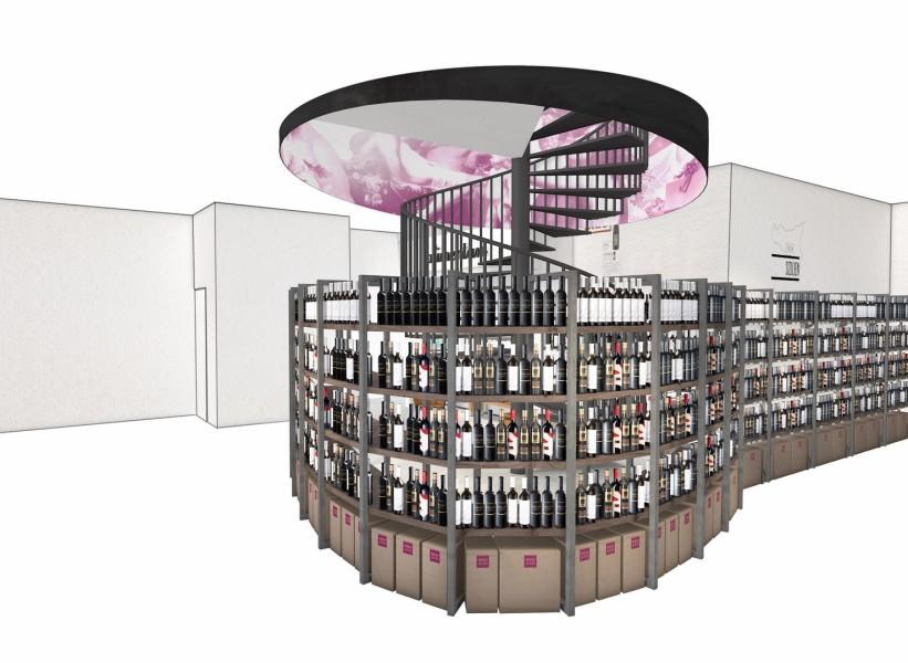 Wein&Co Flagshipstore am Wiener Stephansplatz: Wendeltreppe ((c) BEHF)