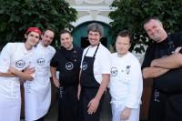 REAL IS RARE. RARE IS REAL. Die grandiosen Köche der 47° rare styrian cuisine: Harald Dirka, Luis Thaller, Manuel Liepert, Norbert Thaller, Gerhard Fuchs und Tom Riederer.