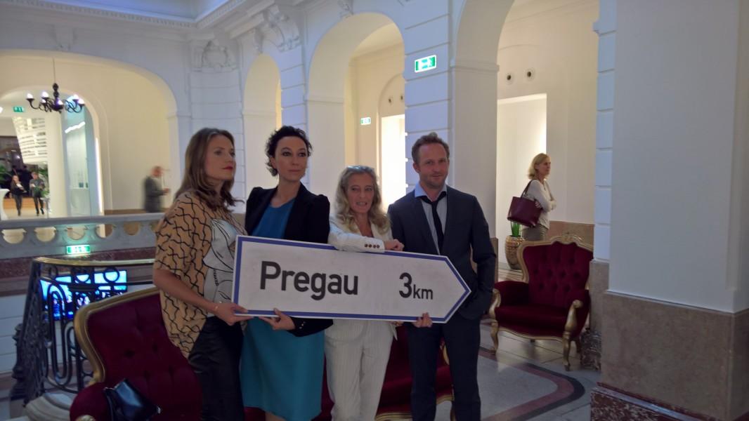 Patricia Aulitzky, Ursula Strauss, ORF-Fernsehdirektorin Mag. Kathrin Zechner und Maximilian Brückner (Foto Hedi Grager)