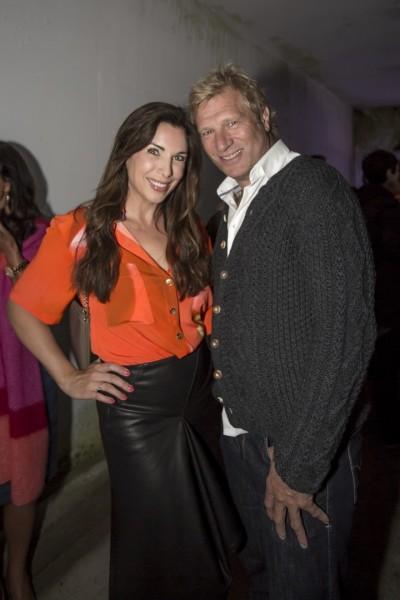 Auch die deutsche Moderatorin Alexandra Polzin kam mit ihrem Mann, Eurosport-Moderator Gerhard Leinauer zur Fashion Show von Rebekka Ruetz (Foto Getty Images)