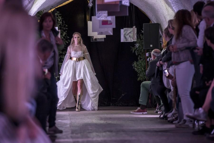 Rebekka Ruétz präsentierte ihre Funkart Collection, mit der sie schon auf der Berliner Fashion Week begeisterte (Foto Getty Images)