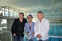 SOKO Donau ermittelt wieder in Graz: Stefan Jürgens, Enrico Jakob, CINESTYRIA, und Gregor Seberg, (Foto Reinhard Sudy)
