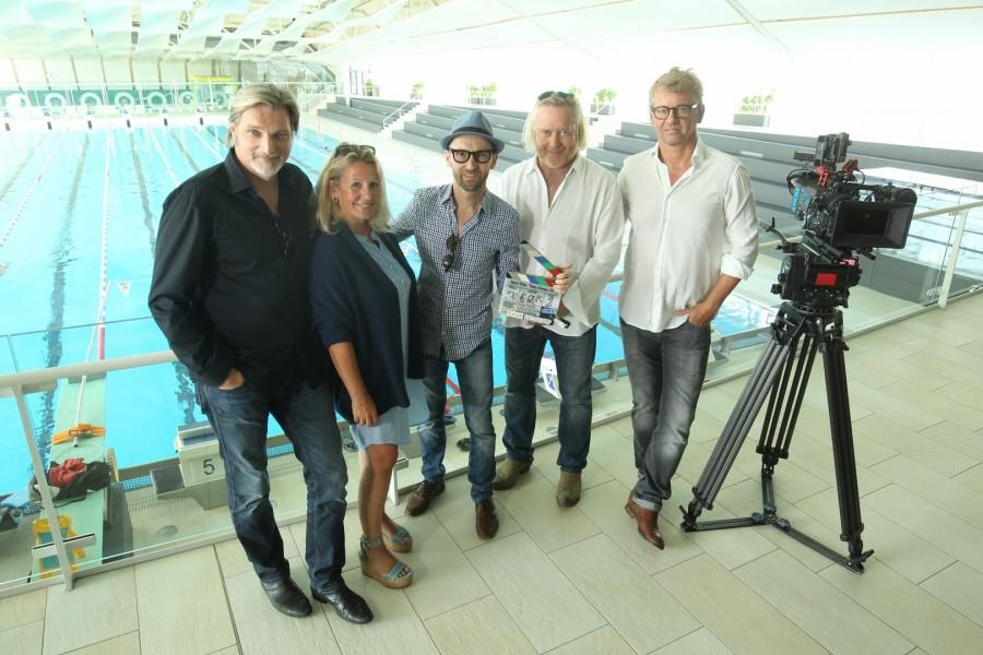 Die 12. Staffel der SOKO Donau führt die Ermittler auch wieder nach Graz: Stefan Jürgens, Sabine Weber, Enrico Jakob, Gregor Seberg, Heinrich Ambosch (Foto Cinestyria/Bern)