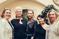 Landtagspräsidentin Bettina Vollath, Elke Steffen-Kühnl, Schauspielerin Aglaia Szyszkowitz, Babsi Schneider und Barbara Krenn-Schögl, Direktorin Modeschule Graz (Foto Lupi Spuma)