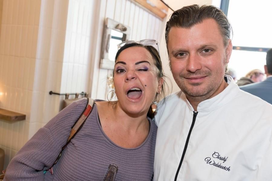 Christof Widakovich mit Comedian Marion Petric (Foto Werner Krug)